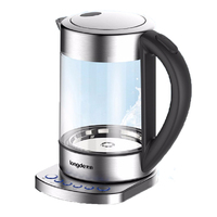 1800W Electric Kettle Auto Power off Quick Heating Teapot Glass Household Multifunctional Electronic Insulation Kettle Boiler