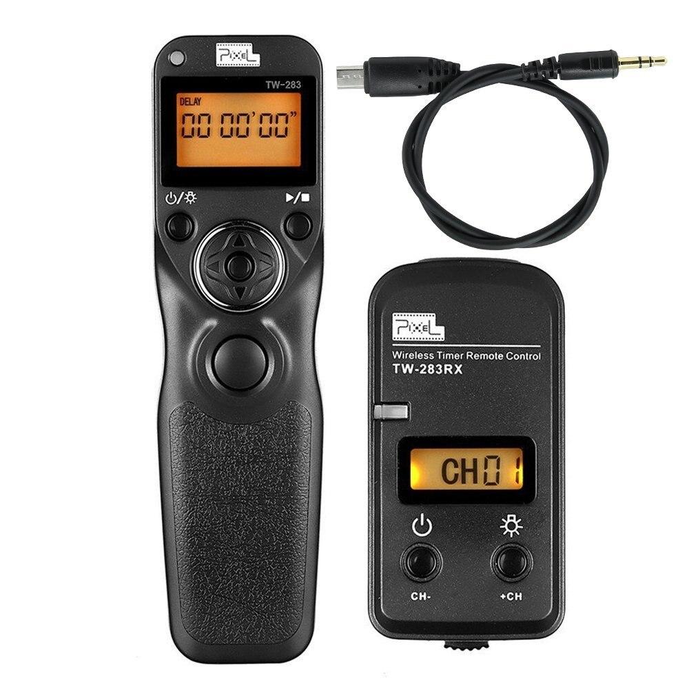 Pixel TW-283 S2 Wireless Timer Shutter Release Remote Control For Sony A58 A7 A7R A7II A7RII A75 A6300 A6000 A3000 HX300 RX100II