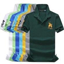 Men Clothes 2019 Brand Men shirt Men Polo Shirt Men Short Sleeve Embroidery Polo Shirt Plus Size 2XL men cuffed embroidery polo shirt