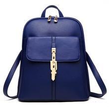 Опрятный студент рюкзак 2017, женская обувь Роскошные конфеты Цвета Пряжка замок Back Pack школьные сумки для девочек-подростков ПУ Bagpack