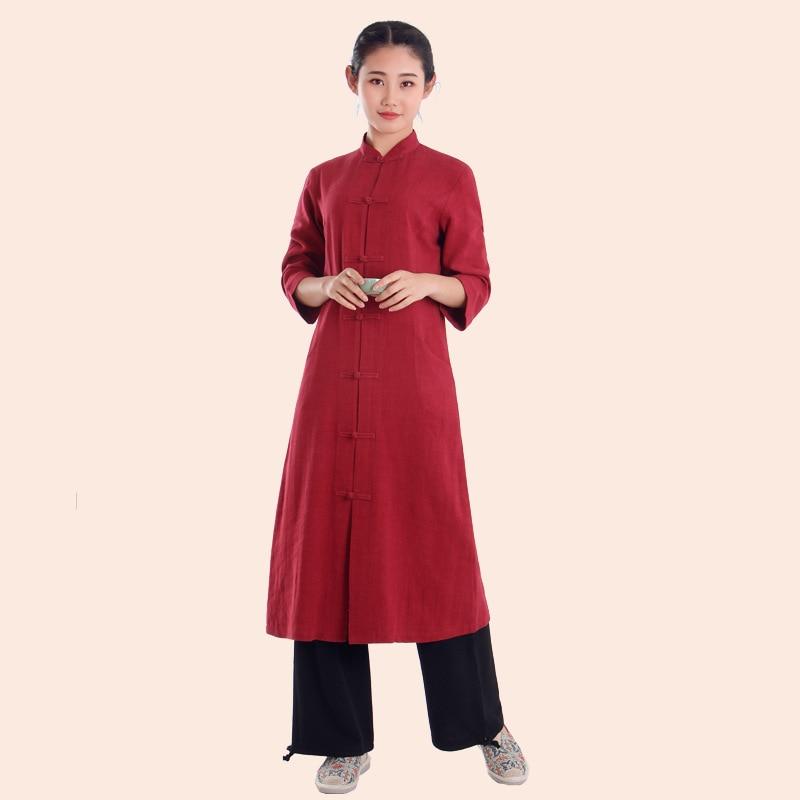 100% Cotton Chinese Tang Kung Fu Suit Martial Arts Wushu Tai Chi Uniform Shaolin Wing Chun Clothes Zestawy Sztuk Walki