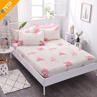 1pc 100% Cotton Printing Flamingo Nice Bedding Sheet Cheap Full Size Single Double Bed Comfortable Fitted Sheet Mattress Cover
