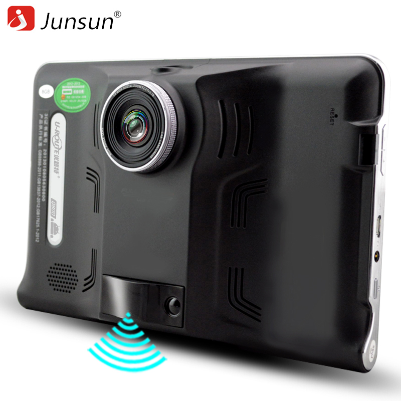 Junsun 7 GPS Navigation Android Car navigator Car DVR radar detector camera Tablet PC 8G Europe/Navitel Map sat nav vehicle gps beling g710a car gps navigation with av in 7 in touch screen wince 6 0 8gb vehicle navigator fm sat map mp4 sat nav automobiles