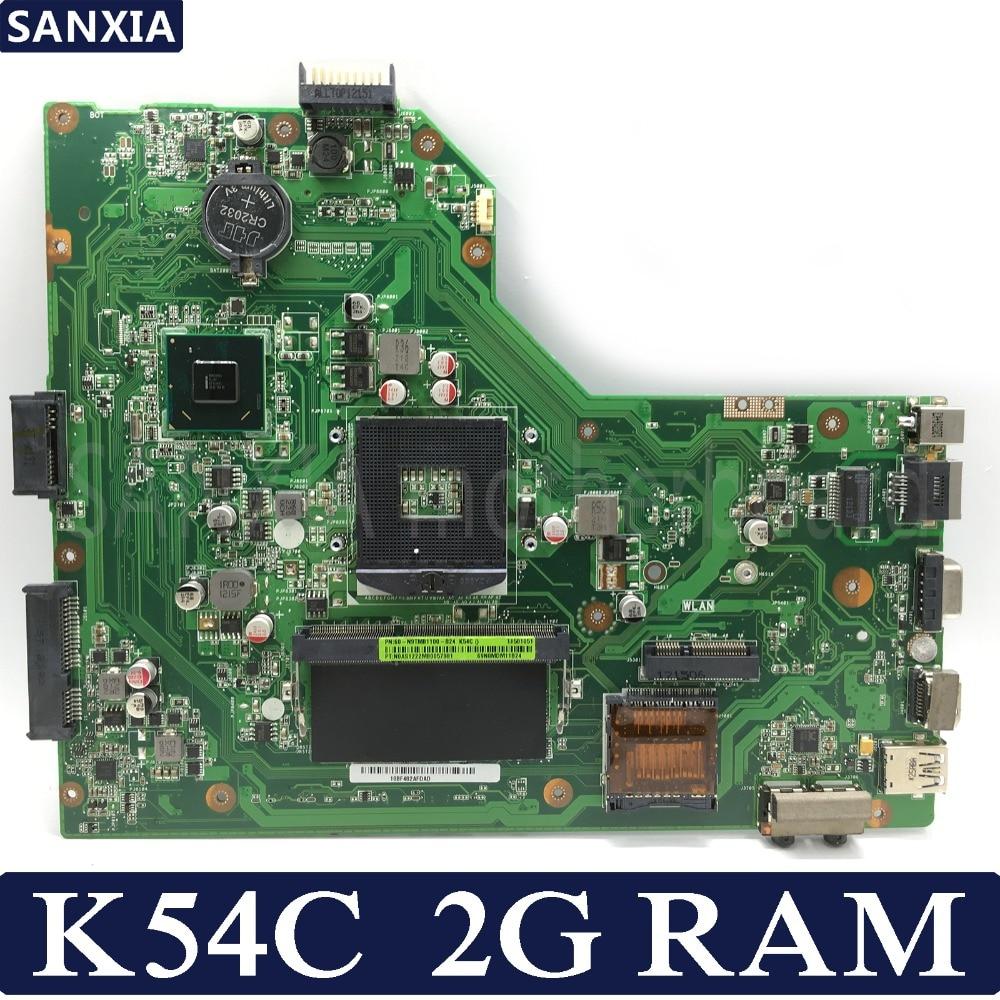KEFU K54C Laptop Motherboard For ASUS K54C X54C K54 Test Original Mainboard 2G RAM PGA989