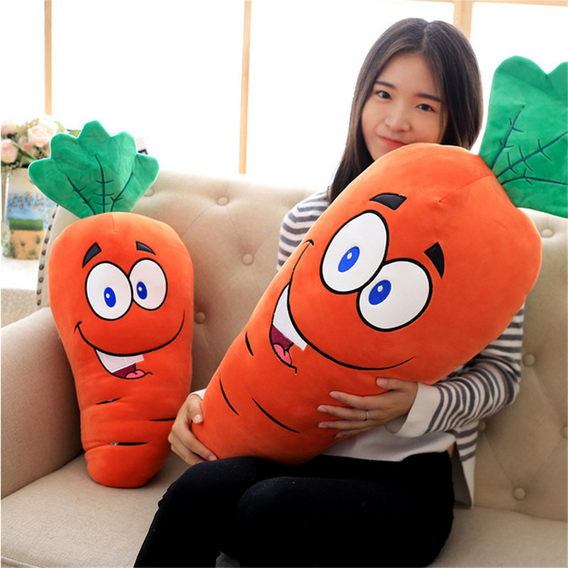 Fancytrader  Soft Anime Radish Plush Toys Giant Stuffed Emulational Carrot Sleeping Pillow Cushion for Kids and Adults Gifts fancytrader korea 120cm giant plush soft animal longer ears rabbit toy cartoon sleeping bunny doll gifts for friends kids