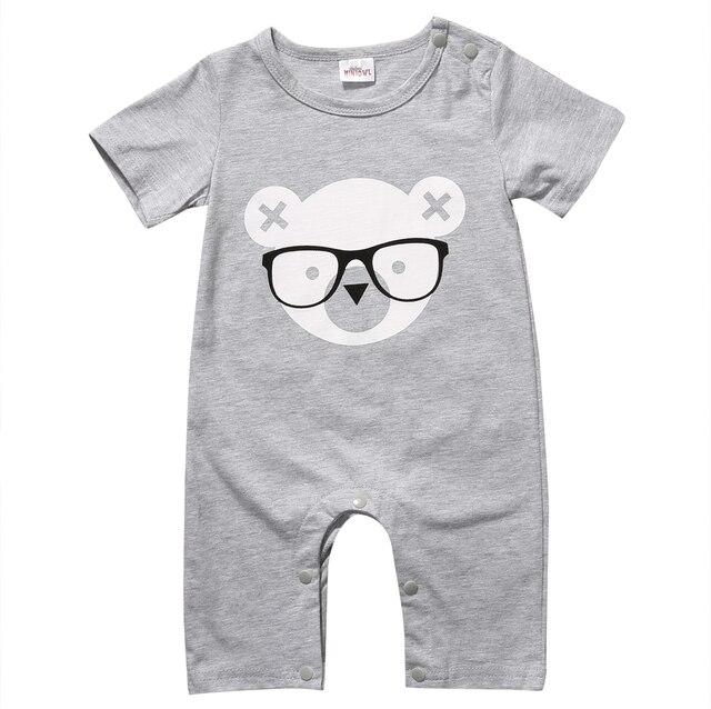 e7e9eee25a75 Newborn Toddler Infantil Baby Boys Baby Girls Unisex Short Romper ...