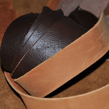 DIY handmade leather first layer of leather Brown series random ship shoulder strap material bag with material