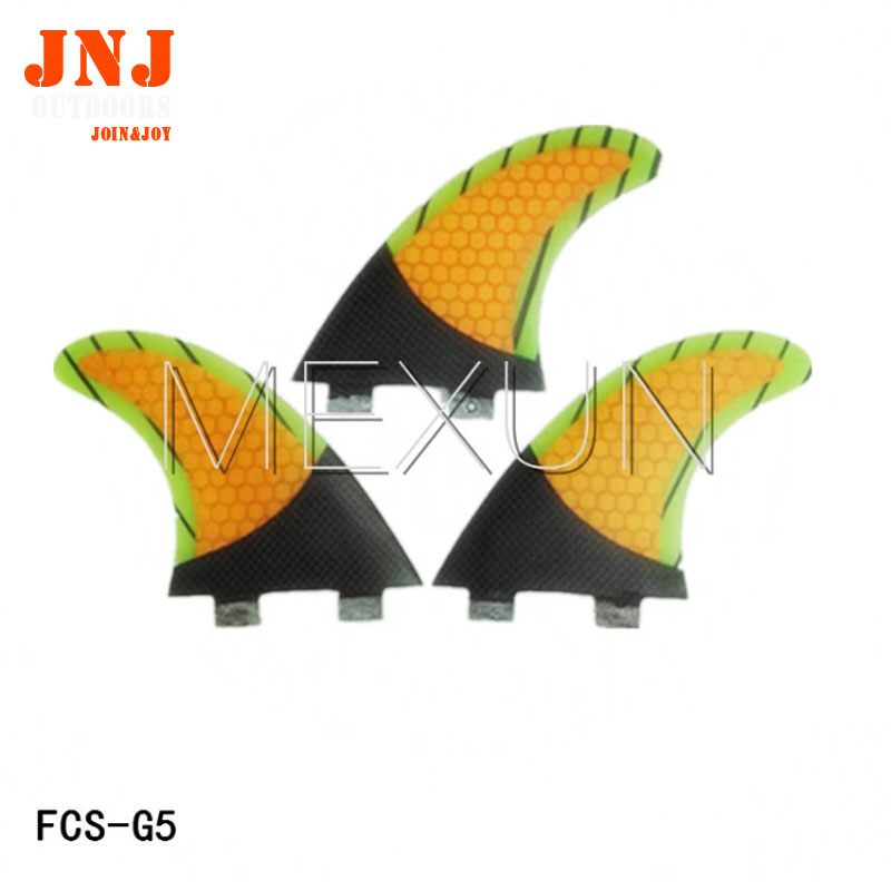 FREE shipping half carbon Surfboard table Thruster tri fins Set (3) FCS M G5 surfboard fins