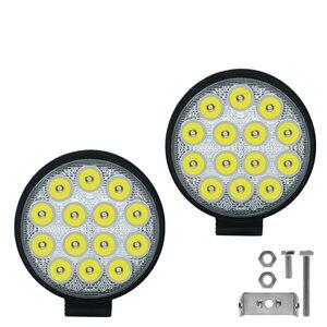 Image 2 - Car Light 4 Inch Rounded 4200LM Led 12V 24V Work Light Bar Driving Pods Spot Beam Work Lamp for Off Road Suv Car Work Lights