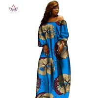 2019 African Slash Neck Dresses for Women Printing Dashiki Casual Dress Robe Femme Casual Indian Clothing big Size BRW WY2110