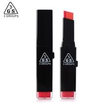 3GS maquillaje marca de cosméticos de alta calidad belleza bicolor lápiz labial, impermeable de larga duración hidratante 10 colores 12 unids/lote