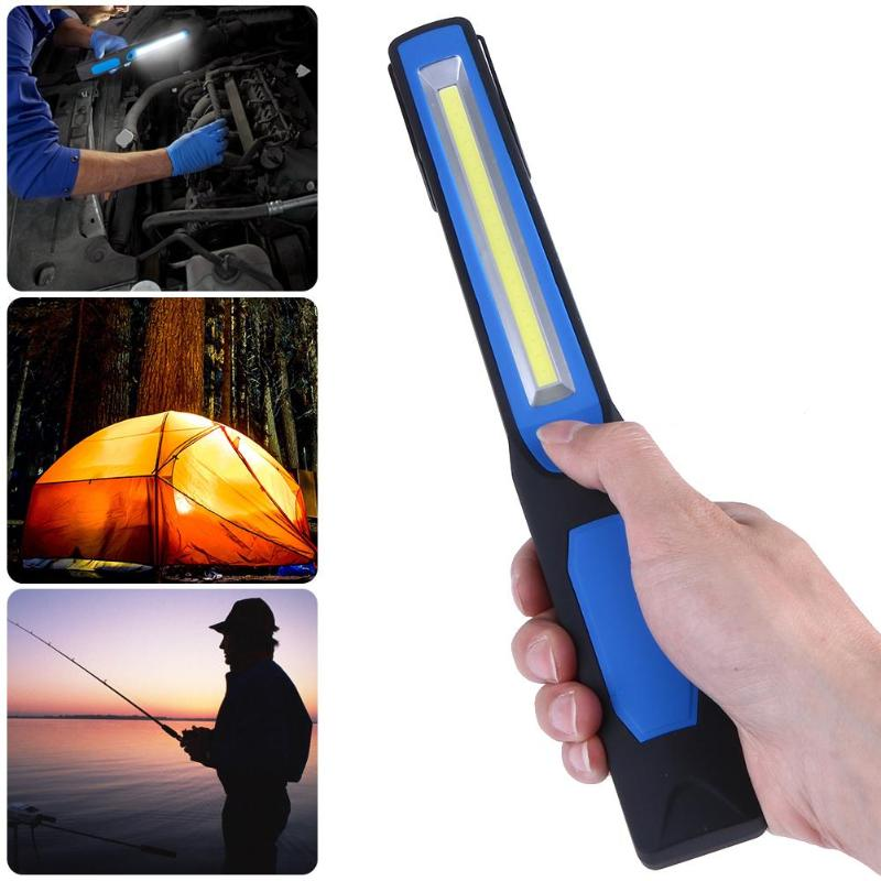 Portable Mini COB LED USB Charging Flashlight Pen Shaped Outdoor Backpacking Camping Emergency Torch Good Rechargeable Car Lamp