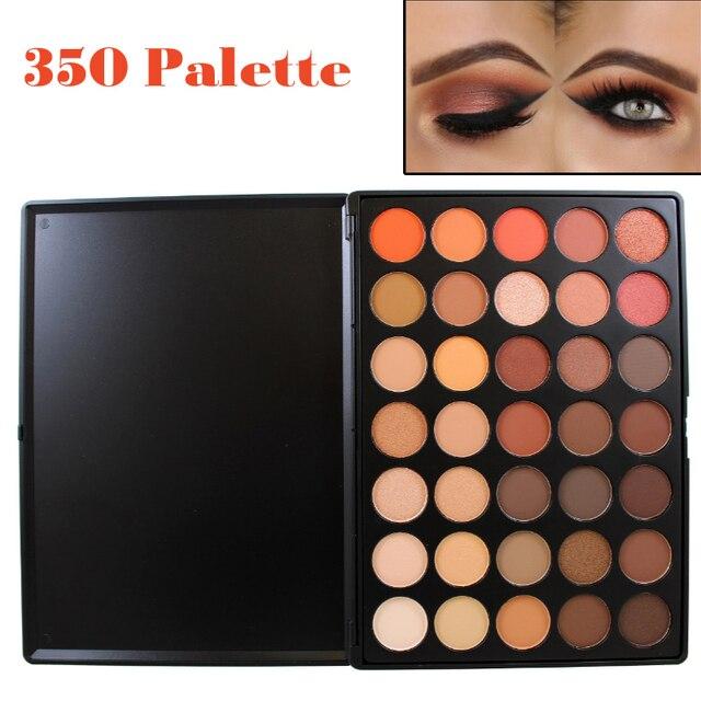 Profesjonalne 35 Kolor Shimmer Matte Eyeshadow Paleta Ziemi Ciepły Kolor Oczu Cień Makeup Set 35O 35 T 35 K 35 P