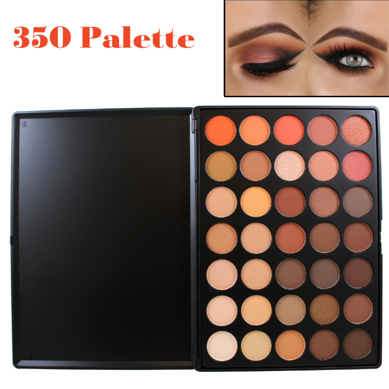 Professionell 35 Färg Eyeshadow Palette Earth Varm Färg Shimmer Matt Eye Shadow Skönhet Makeup Set 35O 35T 35K 35P