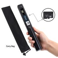 Portable Handheld Document Scanner with 16GB MicroSD Card Mini Pen Scanner Document & Image A4 Size 900DPI JPEG/PDF Format