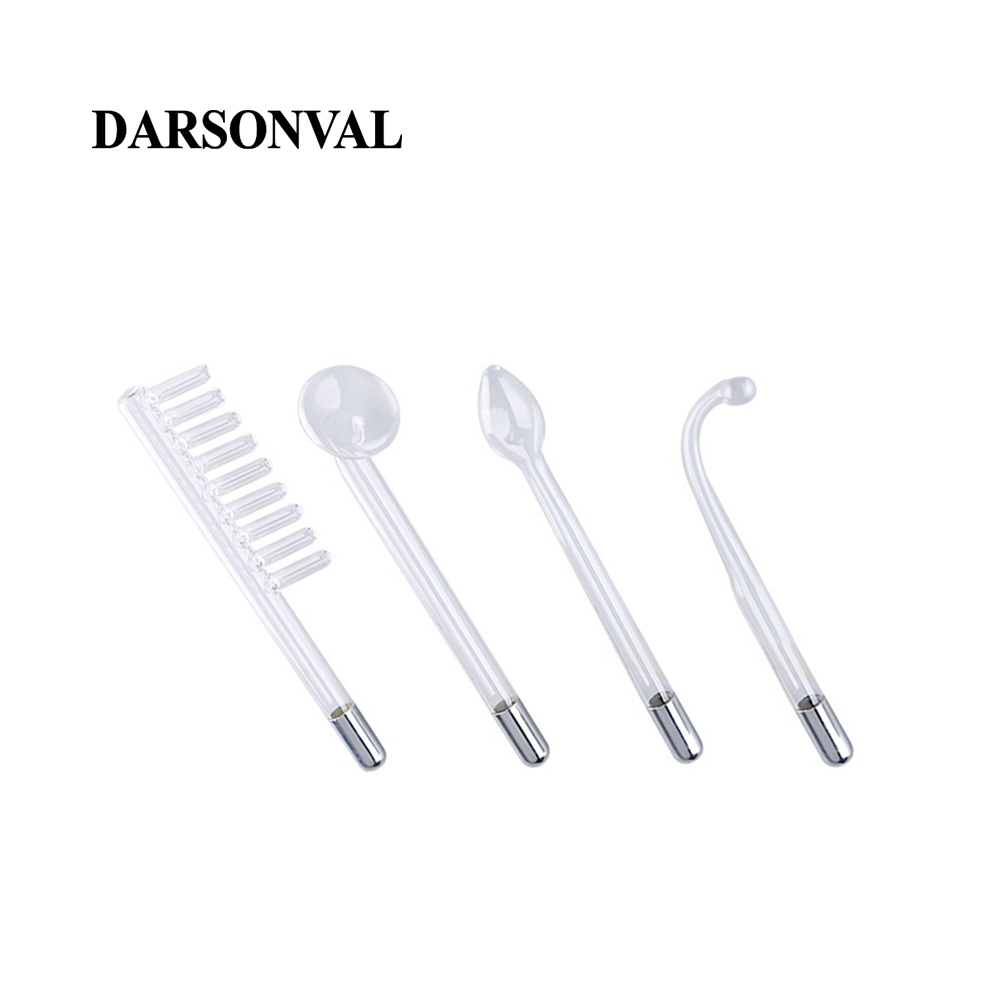 Image 5 - DARSONVAL 4Pcs High Frequency Facial Glass Tubes Electrodes Nozzles Replacement Acne Spot Remover Purple Ray Body Face Massager-in Face Skin Care Tools from Beauty & Health