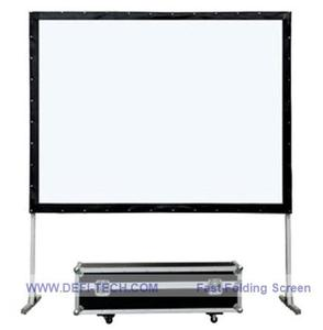 DfLabs Высокое качество 200 дюймов 4:3 стеновой стенд быстро сложенный фронтальный проектор экран