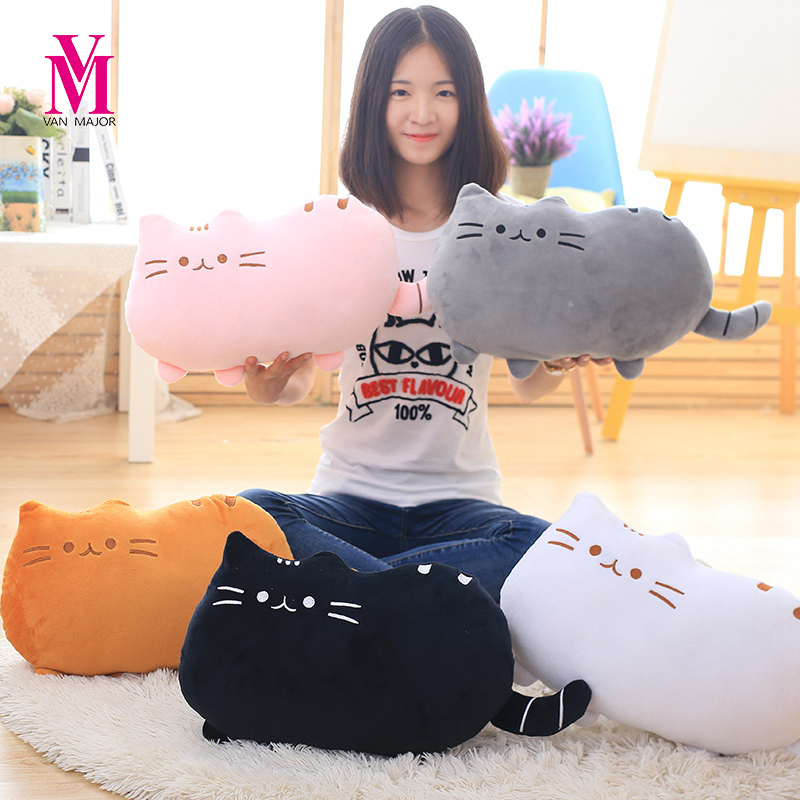 1pc 25cm Pusheen Cat Plush Toy Stuffed Animal Doll Pusheen Cat Pillow for Girl Kid Kawaii Cute Cushion Car Decoration Brinquedos 2015 kawaii biscuits cats 40 30cm cute stuffed animal plush toys dolls pusheen shape pillow cushion for kid home decoration