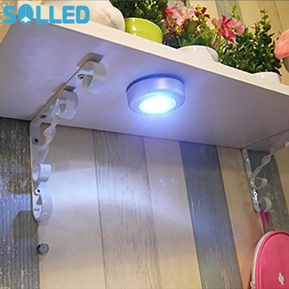 SOLLED Led Night Light Wireless 3 LED Wall Light Kitchen Cabinet Closet Cordless Lighting Sticker Tap Touch Lamp Lamps
