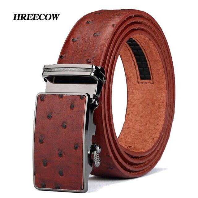 d25cd1a90a0 2017 Nouveau produit marque de luxe automatique boucle vachette jaune  ceinture en cuir ceintures pour hommes