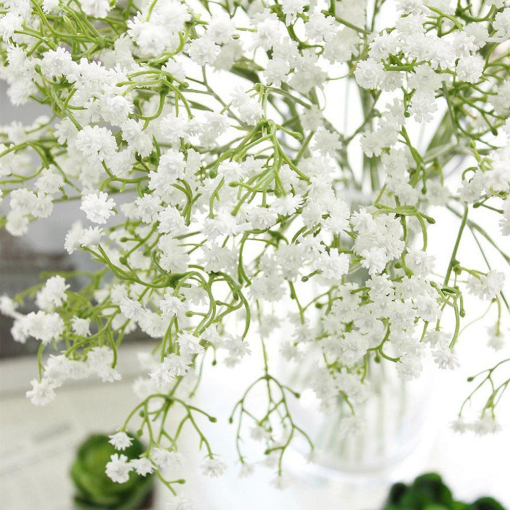 3pcsset Artificial Babys Breath Gypsophila Flower Plant White
