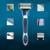 Galaxy blue 5 camada de lâmina de barbear navalha de barbear homens lâmina de barbear e lâminas de barbear rosto cuidados pessoais aço inoxidável manual de