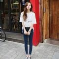 2016 Spring Autumn Jeans Pants New Women Denim Pants High Waist Elastic Pencil Trousers Capris