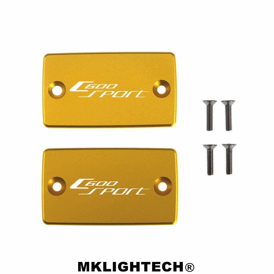 MKLIGHTECH FOR BMW C600 SPORT 2012-2015 CNC Aluminum Motorcycle Brake Fluid Fuel Reservoir Tank Cover Cap