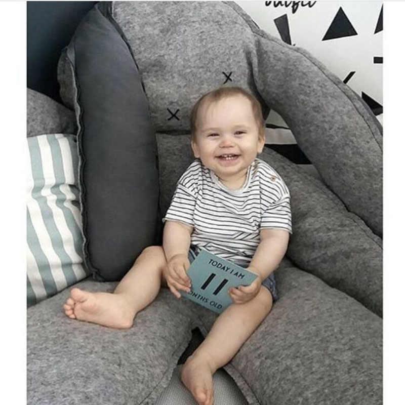 ¡Gran oferta! almohada de conejo gris súper grande de INS, cojín para bebé, juguetes para bebés para compañía, atrezos para fotografía de bebés, decoración del hogar