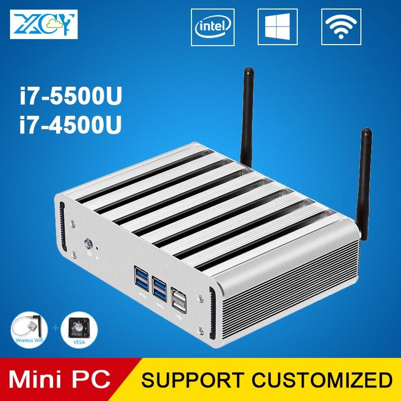 XCY Mini PC Core i7 4500Y 4500U 5500U 4G RAM 256G SSD Gaming PC HTPC Windows