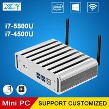 XCY Mini PC Core i7 4500U 4500Y 5500U 4 Г RAM 256 Г SSD игровой ПК HTPC Windows 10 Безвентиляторный Пк Микро Компьютер HDMI VGA WIFI
