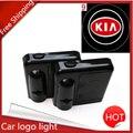 LED Luz de Advertencia de Puerta Kia Con Proyector de la Insignia Para Kia rio sportage ceed rio k2 k3 k5 sportage cerato sorento accesorios