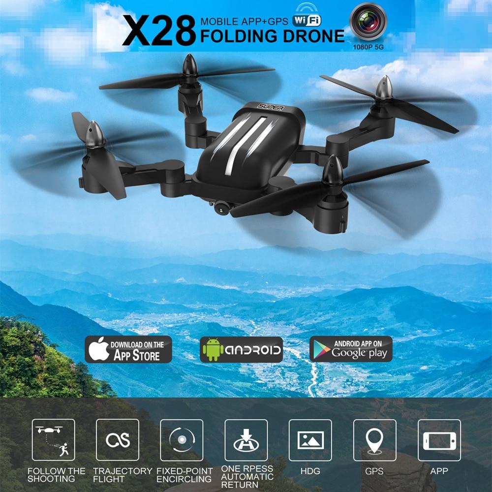 Bayangtoys X28 Brushless Quadcopter con 1080 p HD della Macchina Fotografica RC Helicopter Quadrocopter Pieghevole Drone GPS Dron Scherza il Regalo VS CG033