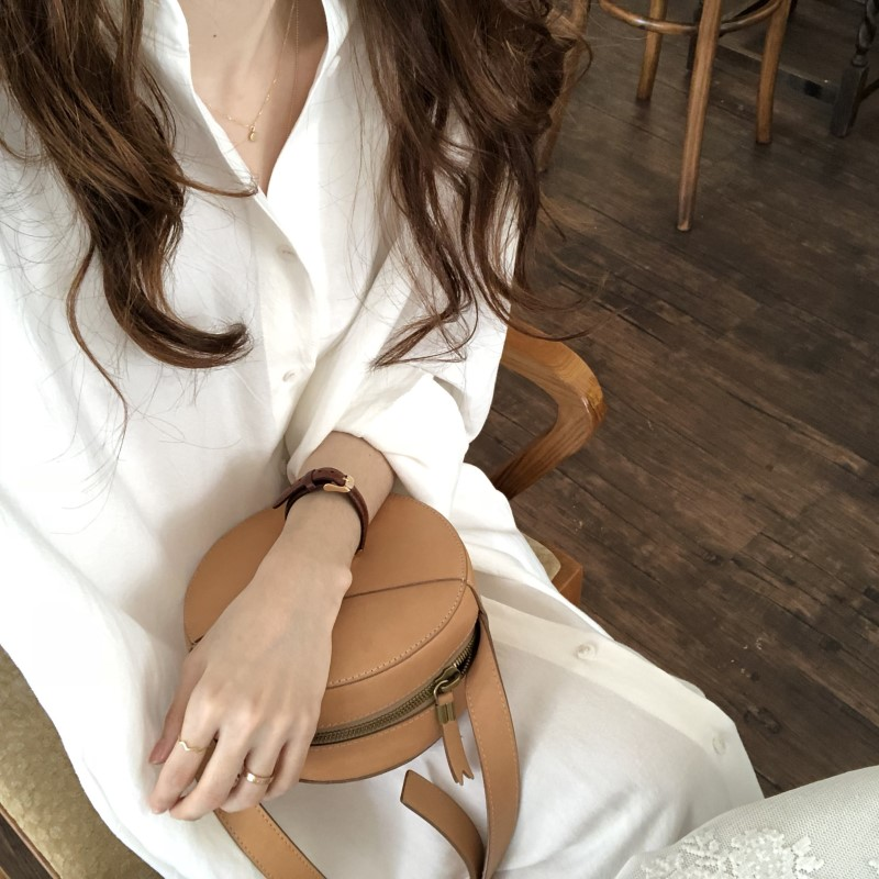 Blue Long Sleeve Long Shirt Dress Spring Casual Patchwork White cotton Dresses Collar Buttons Loose Dresses Robe Femme Vestido 18