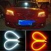2pcs 60cm Flexible Car LED Strip White DRL Daytime Running Light And Turn Signal Light Parking