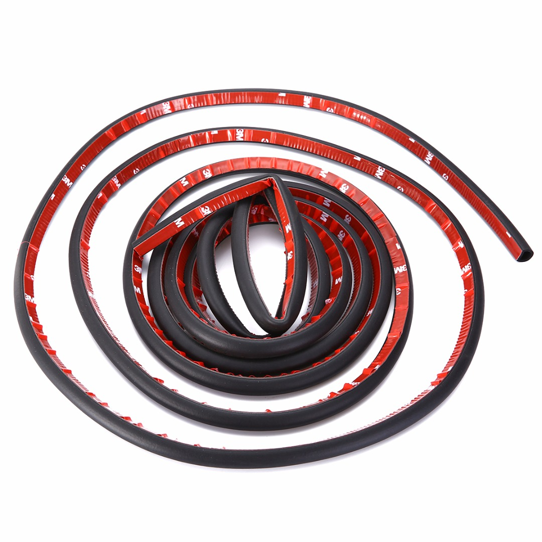 MAYITR 4M 13FT D Type Rubber Car Door Weather Strip Waterproof Black Universal Car Seal Hollow Sealing Strip cawanerl car sealing strip kit weatherstrip rubber seal edging trim anti noise for nissan almera march micra note pixo platina