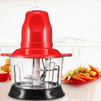Multifunctional Household Electric Food Meat Grinder Processor Stainless Steel Meat Cutter Kitchen Blender Chopper 2L Powerful