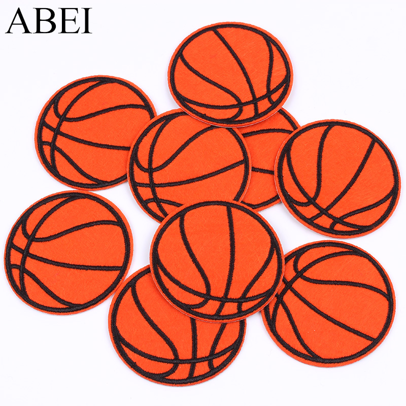 10pcs/lot Embroidered Basketball Patch Iron On Sew On Sports Ball appliques Diy Clothing Stickers iron Jeans garment Badge|Patches|   - AliExpress