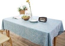 YO HOOM Kitchen Cotton Tablecloth Tablecover Coffee Table Cloth Table Cover Color Optional yo hoom kitchen cotton tablecloth tablecover coffee table cloth table cover simple blue color optional