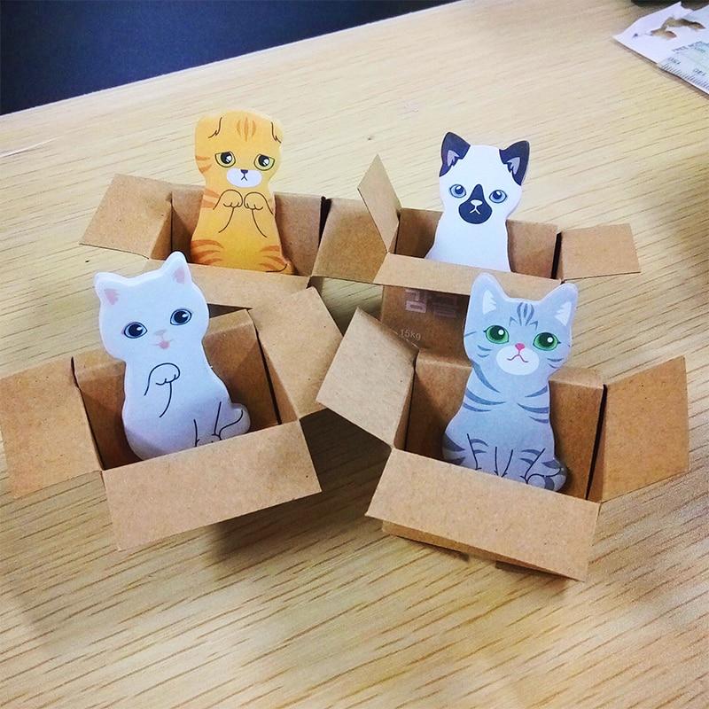 Cute Cat Kawaii Memo Pad School Sticky Notes Notepad Stationery Sticker Memopad Stationary Office Decoration Post Planner Tab