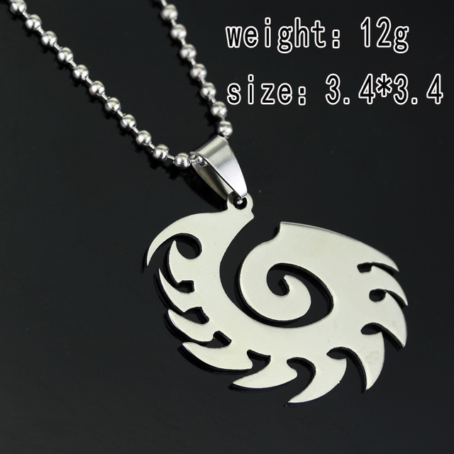 Starcraft 2 II Zerg silver Necklace Pendant Free With Chain Titanium Steel Jewelry 2