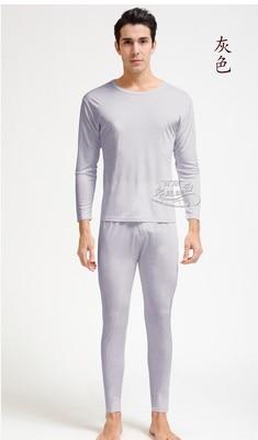 Tai hang zhengpin 100 % silkworm silk autumn clothing knitted silk men round neck warm underwear