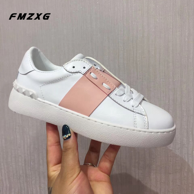 Hot Luxury Brand Casual Shoes Genuine Leather Super Quality Flat Shoes Women Espadrilles Casual Fenty Beauty Women Sandles Shoes
