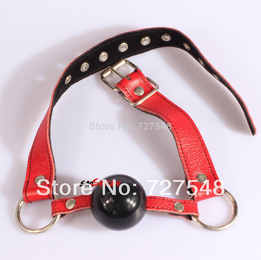 15% off PU Leather Alternative toys hollow mouth gagged the ball horse with type Oral Fixation mouth stuffed Red/Black/PInk