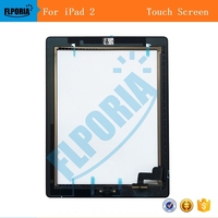 For IPad 2 Touch Screen Tablet Digitizer Display Assembly Includes Home Button Flex Camera Holder Frame