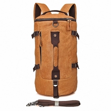 High Quality 100% Genuine Leather Bucket Backpack Fashion Men Travel Bags Brand Design 15.6 inch laptop School Backpacks LI-1680