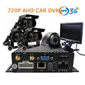 Free Shipping 4 CH GPS 3G SD 720P AHD Car DVR Video Recorder + 4 Pcs Back Rear Side Front View Metal Car Truck Camera + Monitor