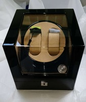 High Quanlity Fashion Wood Watch Winder Black Color 2 Slots Watch Storage Winders Watch Gift Winder Mens Mechanical Winder A092