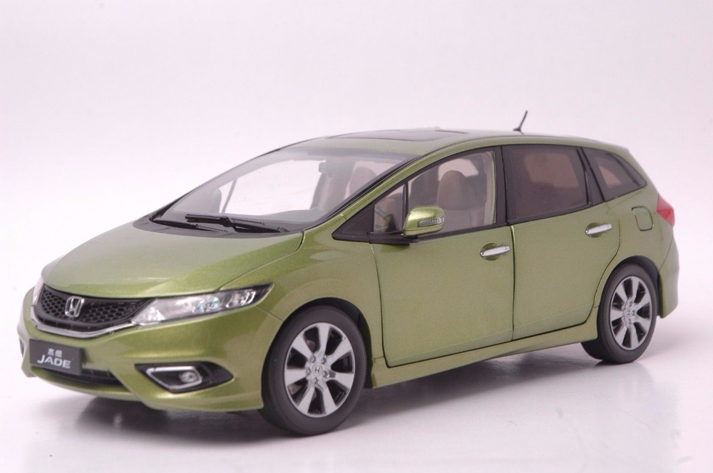 1:18 Diecast Model for Honda Jade Green  Wagon Alloy Toy Car Miniature Collection Gifts Jazz Fit