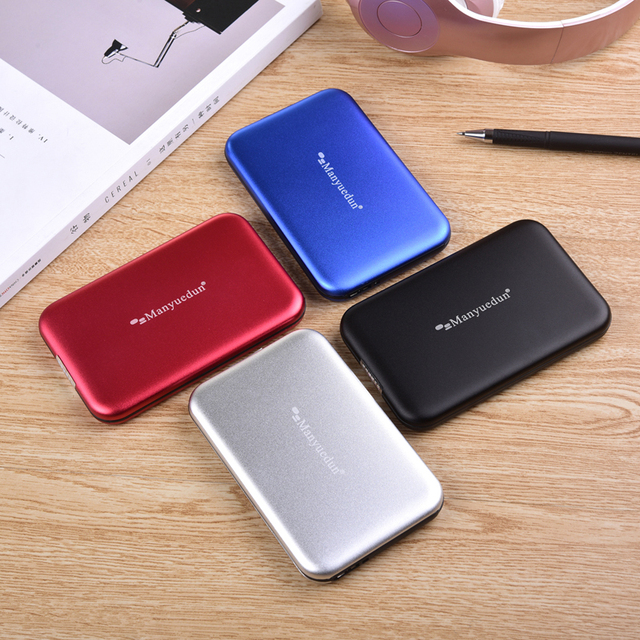 External Hard Drive 1TB in Four Colors